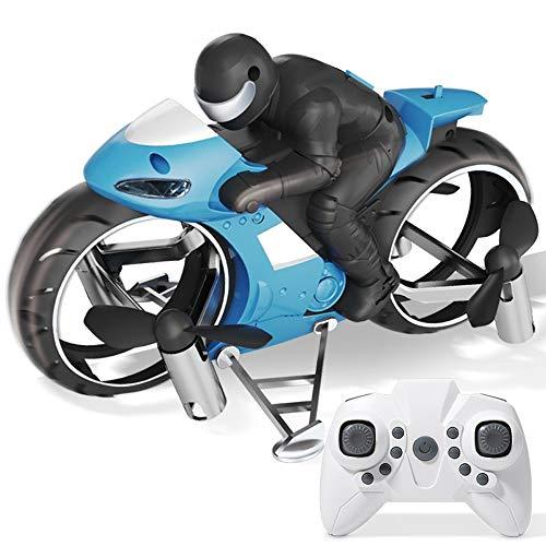 LOGO RC Flugzeug Spielzeug for Kinder Tropfen feste Fernbedienung Motorrad-Beschleunigung Toy Land-Luft Dual-Mode Deformation Drone Simulation 2.4G Quadcopter Jungen-Spielzeug-Geschenk for Kinder Gebu