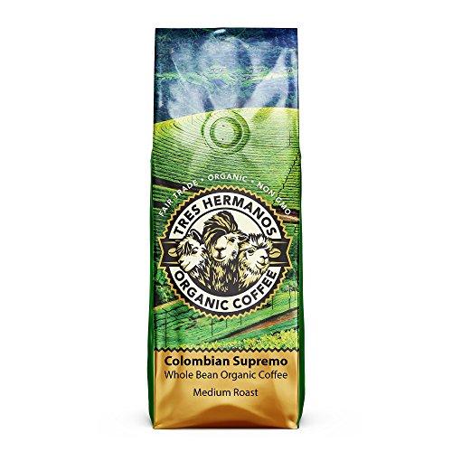 Tres Hermanos Fairtrade Low-Acid Organic Coffee (Colombian Supremo...