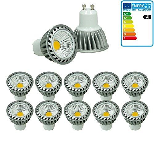 ECD Germany 10-er Pack 4W GU10 LED Spot ersetzt - 20W Halogen - 220-240V 60° Abstrahlwinkel - 205 Lumen - 4000K Neutralweiß Dimmbar Birne Lampe Strahler Leuchtmittel
