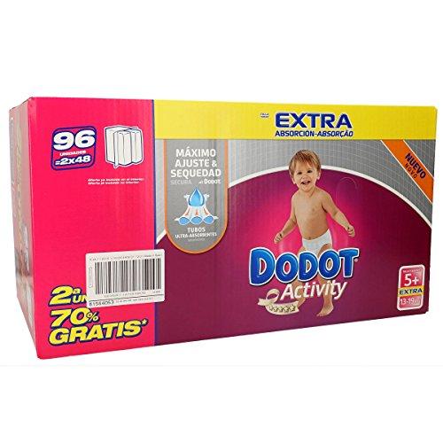 DODOT Activity extra pañales 13-19 kgs talla 5+ caja 96 uds