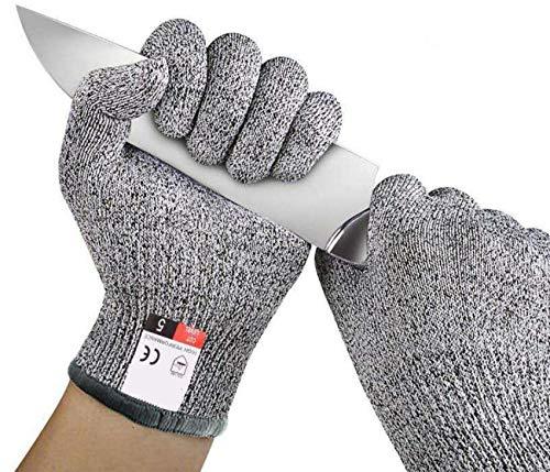 Schnittfeste Premium Handschuhe - Level 5 SCHNITTSCHUTZ, Schnittschutzhandschuhe,Arbeitshandschuhe,Küchen Handschuhe,Lebensmittelecht, EN388 Zertifiziert,Gestrickt Handschuhe, Gartenbau, 1 Paar, (M)