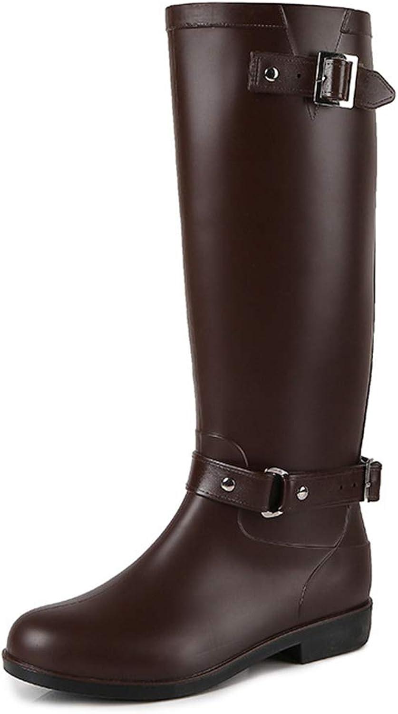MINIKATA Women's Black Ankle Rain shoes Anti Slip Short Elastic Rain Boots Slip On Waterproof Chelsea Boots