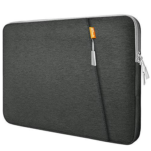 JETech Laptop Sleeve Compatible for 13.3-Inch Notebook Tablet iPad Tab, Waterproof Shock Resistant Bag Case with Accessory Pocket, Grey