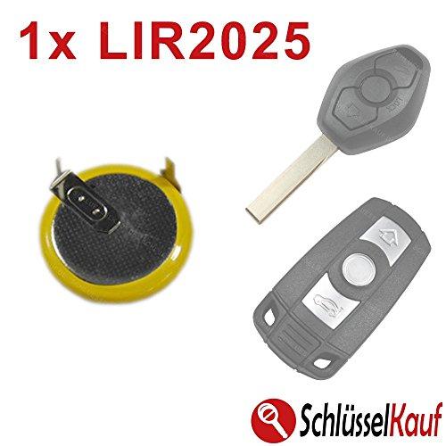 Autoschlüssel Fernbedienung Batterie Akku LIR2025 Lir 2025 Ersatz VL2020 Neu passend für BMW E60 E81 E91 E92 X5 Z4 E39 E46 E52 E90