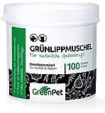 Mejillón de Labios Verdes de Nueva Zelanda para Perros y Gatos en Polvo (100gr.) | Condroprotector 100% Natural con Glucosamina | Indicado para Articulaciones y Movilidad en Perros y Gatos | GreenPet®
