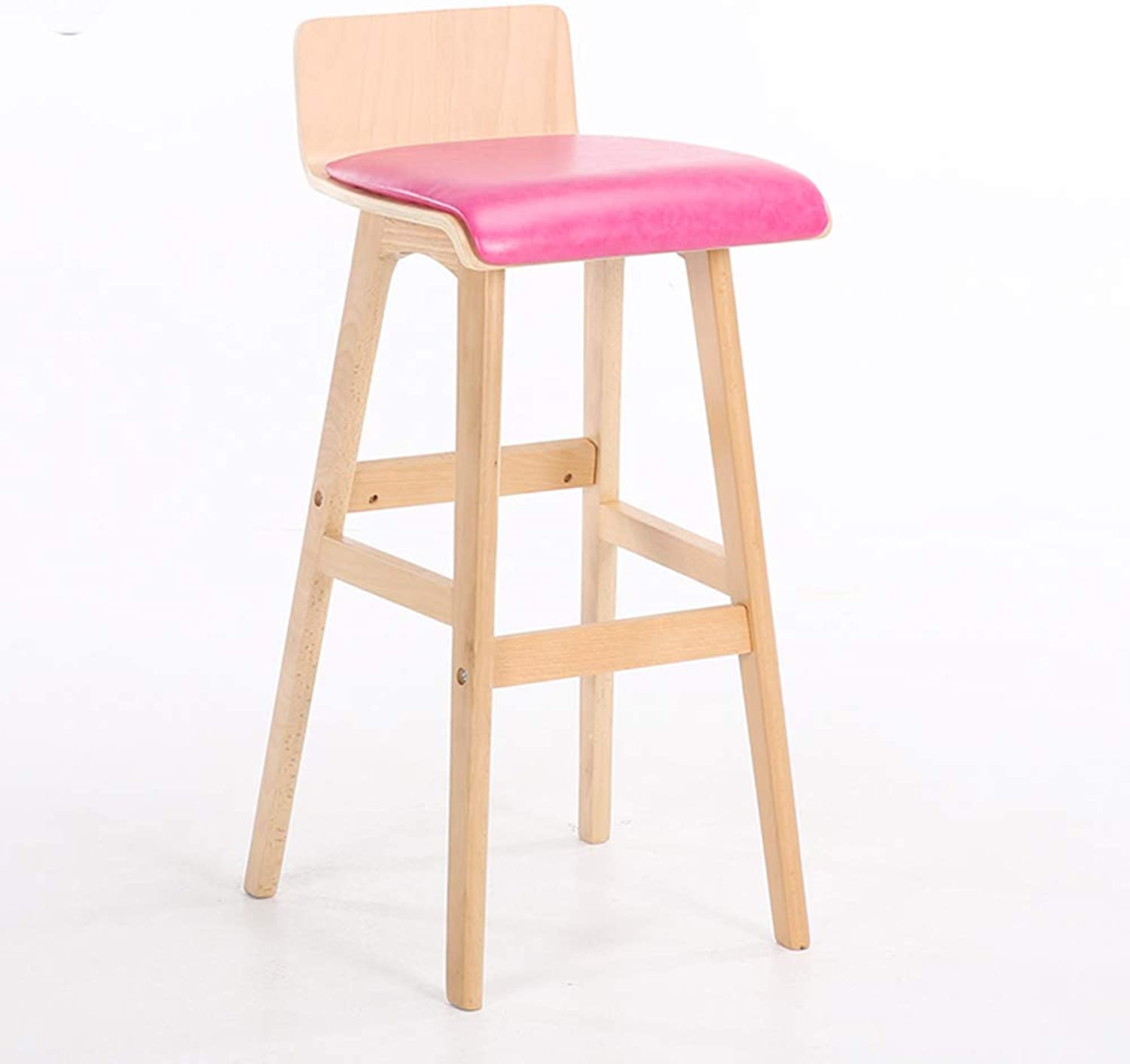 Bar Chair, Breakfast Chair Kitchen Restaurant Cafe Wood Multi-color Optional HPLL (color   7, Size   40  75cm)