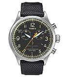 timex orologio cronografo quarzo uomo con cinturino in pelle tw2r38200