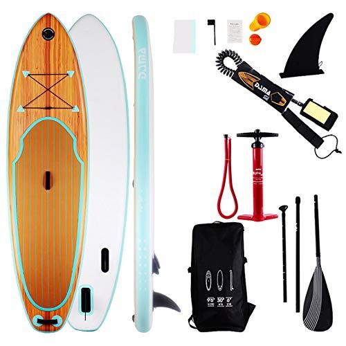 ZJMWQ Grano De Madera Stand Up Paddle Board Sup Durable Padelsurf Hinchables Inchable Tablas Remos Tabla Surf Hinchable Conjunto