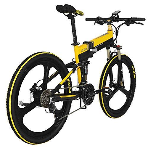 Bicicleta Eléctrica Plegable Ciclomotor 26 Pulgadas 400W 30km/h Bici Ciudad/Montaña/Todo Terreno de Aluminio Bateria Litio Extraíble Freno de Disco Hidráulico Display LCD 3 Modos [EU Stock]