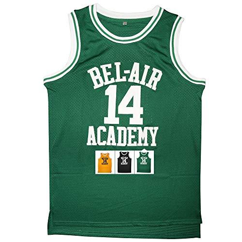 Kobejersey 14 Bel Air Academy Basketball Jersey S-XXXL (Green, M)