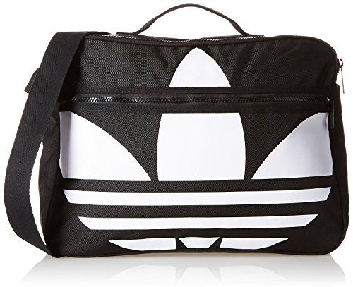 Borsa a tracolla adidas Airliner trefoil, Unisex, Umhängetasche Airliner Trefoil, nero / bianco, 12 x 38 x 28 cm, 12 Liter