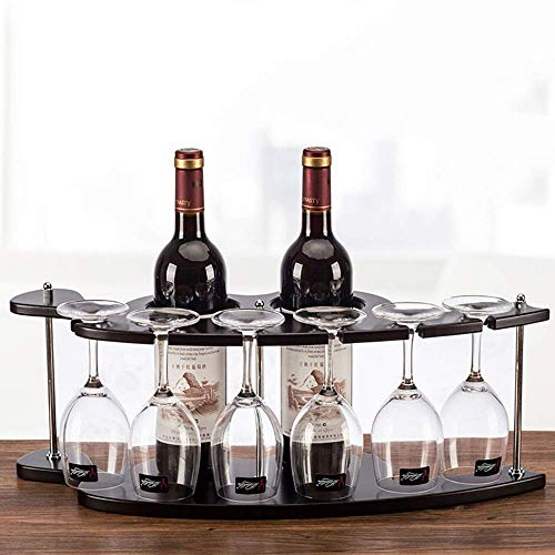 LYLSXY Estantes de Vino, Soporte de Copa de Vino de Estilo Europeo para 2 Botellas