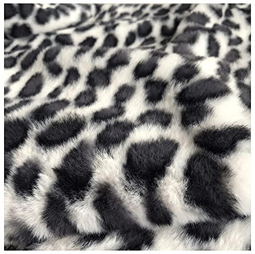 Negro Rosa Leopardo Imitación Conejo Corto Felpa Tela De Piel Sintética Para Fotografía Abrigo De Invierno Almohada Vestcollar Bricolaje Hogar Tela Cuello De Piel Juguete (Size:100*180cm,Color:negro)