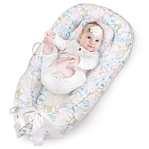 SylkyClover Baby Lounger Nest - Baby Nest Lounger - Newborn Lounger - Baby Lounger Pillow - Infant Lounger - Lounger Newborn Baby - Baby Snuggle Nest - Infant Lounger Pillow - Newborn Lounger Pillow