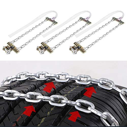 3 cadenas de nieve, 235 – 285 mm, antideslizante, para neumáticos de nieve, invierno, para coche, camión, SUV, etc
