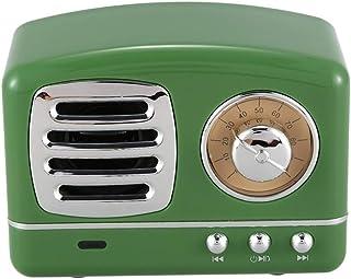 L.J.JZDY Musiklådor retro mini bärbar trådlös musiklåda radio USB TF-kort musikspelare (färg: Grön, storlek: Gratis)