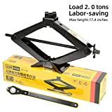 LEAD BRAND Scissor Jack is a Labor-Saving Design, its Load-Bearing is 2 tons, The Steel Plate is Thickened, and The Threaded Shaft is Solid, it is Suitable for Cars and Sports Utility Vehicles