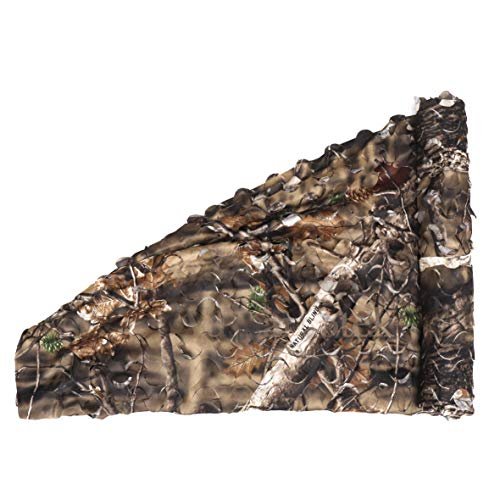 Auscamotek Camo Netting Camouflage Net for Deer Blind Material Soft Quiet -Brown 5x6.5Ft