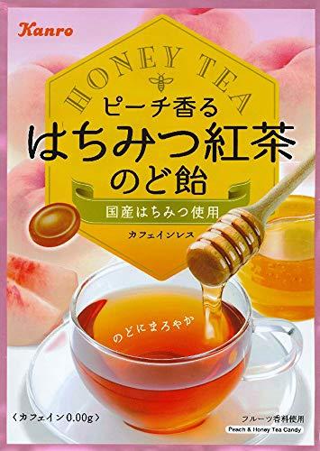 カンロ ピーチ香るはちみつ紅茶のど飴 75g ×6個