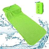 クールタオル スポーツタオル 速乾タオル 冷却 超吸水 首冷やす 熱中症対策 104×29cm 収納ケース付き 子供 無添加