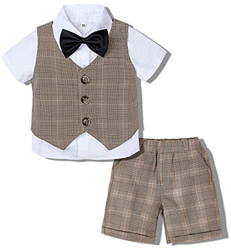 mintgreen Babybekleidung Jungen Gentleman Smoking Neugeborenen Overall, Khaki, 2-3 Jahre (Herstellergröße : 100)