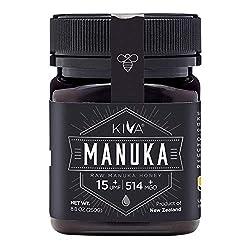 kiva certified umf 15+ raw manuka honey