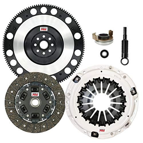 ClutchMaxPRO Performance Stage 2 Clutch Kit with Chromoly Flywheel Compatible with Saab 9-2X, Subaru Baja, Forester, Impreza WRX, Legacy GT, Outback, EJ255, FA20F (CP15026HDLSF-ST2)