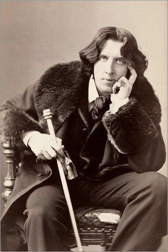 Posterlounge Acrylglasbild 20 x 30 cm: Oscar Wilde von Napoleon Sarony/Everett Collection - Wandbild, Acryl Glasbild, Druck auf Acryl Glas Bild