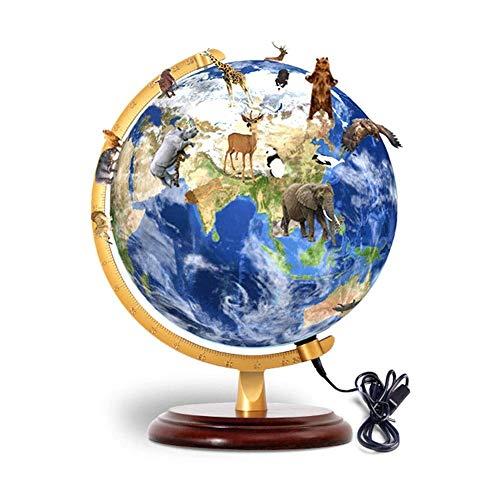 Pädagogische Smart AR World Globe Wissenschaftliche Kinder Globe Lampe Explorer AR Schwenkbare rotierende Tischplatte Globe World Geographie für Kinder Home Decor und Office Deskto