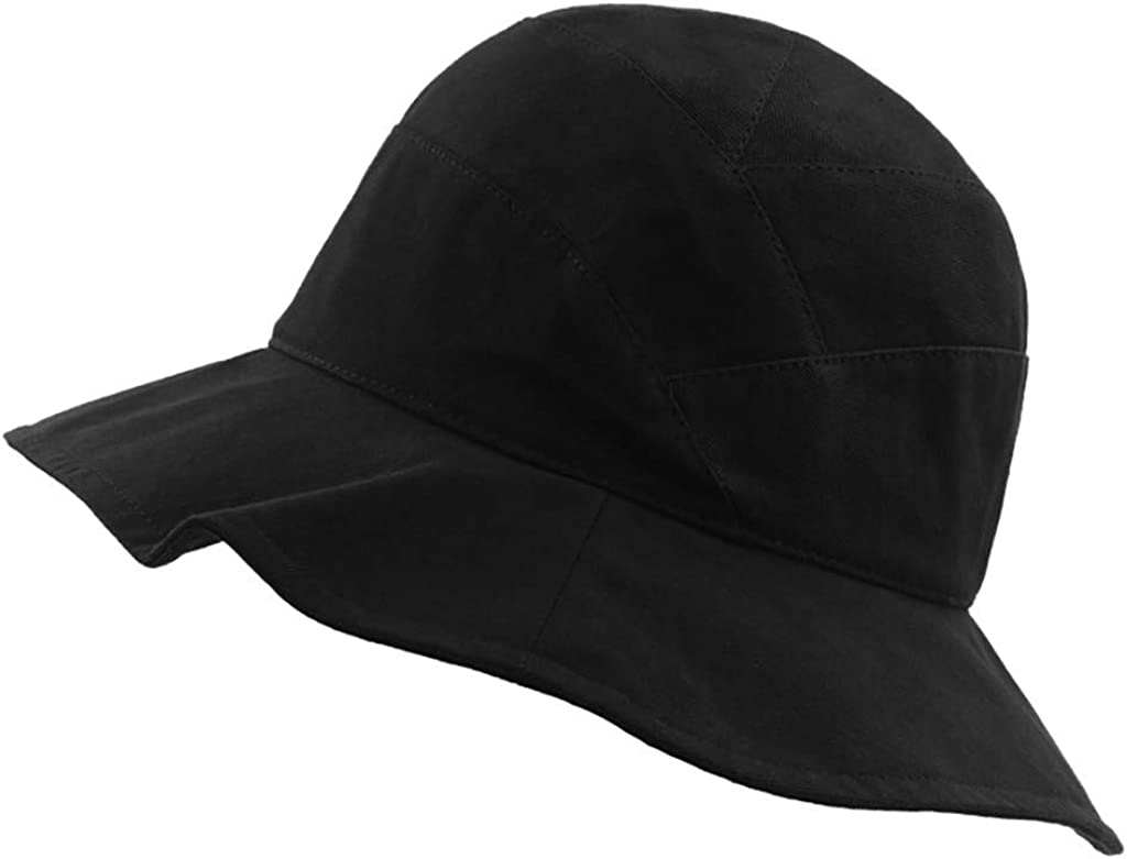 Hemlock Women Girls Cotton Bucket Hat Summer Travel Bucket Beach Sun Hat Packable Fisherman Caps