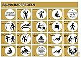eliga Baderegeltafel für Sauna deutsch