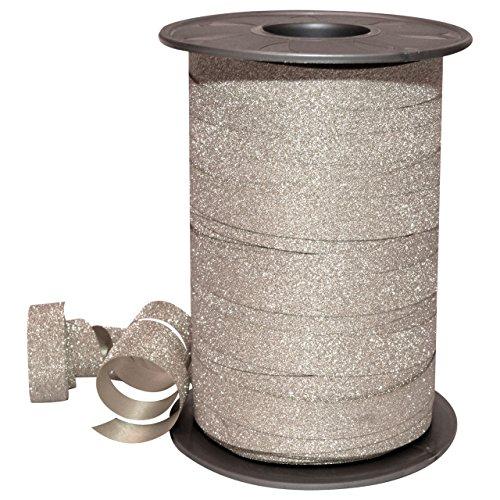 Polyband zilver glitter 10 mm/100 m