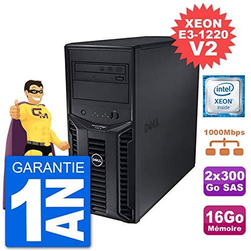 Dell Server Poweredge T110 II Xeon Quadcore E3-1220 V2 16 Gb 2x300go Perc H200 SAS (Reconditioned Certified)