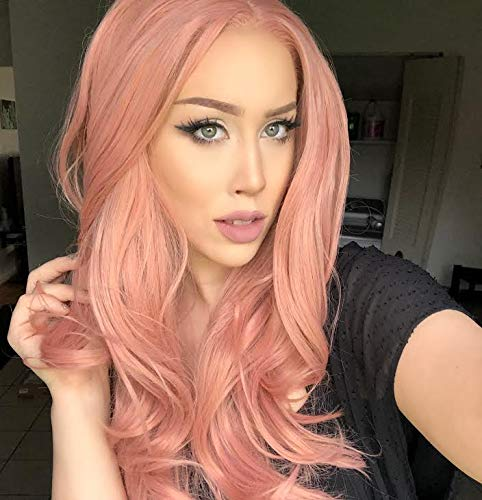Rose Gold Lace Front Wigs with Natural Hairline