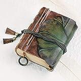 sweetrl Cuaderno de notas de cuero hecho a mano, A5, A6, vintage, retro, de viaje, para cumpleaños, día de San Valentín, regalo