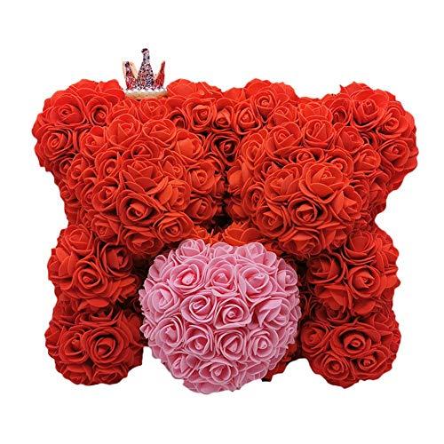 Alivier - Oso de Peluche Artificial de 10 Pulgadas Hecho a Mano para Aniversario, Navidad, San Valentín, cumpleaños