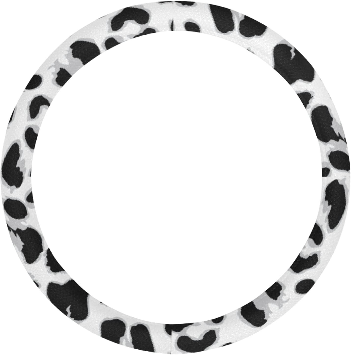 AIKENING Fun Colorado Springs Mall Dallas Mall Steering Wheel Cover Leopard Girls Wh Skin