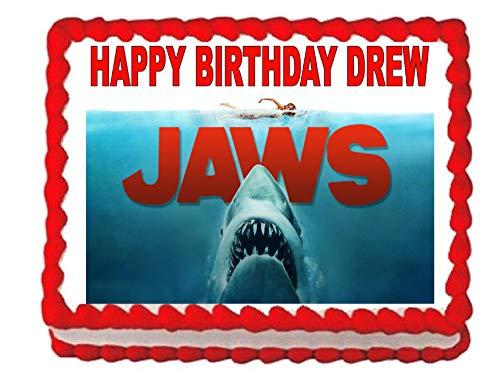 Sharks Jaws Shark Edible Cake Image Cake Topper