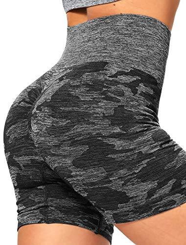 KIWI RATA Seamless Yoga Shorts High Waist Sexy Gym Workout Push up Running Elastic Shorts Compression Hot Pants