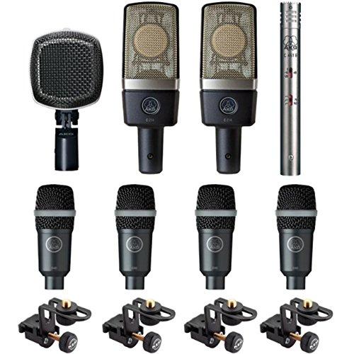 Akg - Drum-set premium kit bateria 8 microfonos drumset