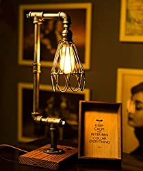 Steampunk Retro Metal Pipe Edison Lamp