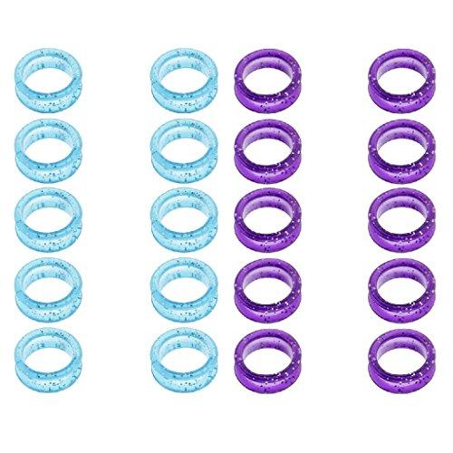 20 Pedazos Anillos de Peluquería Tijeras Anillos de Dedos Puños Inserciones de Tijeras