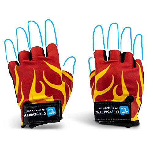 Crazy Safety Bicycle Gloves Kids (Drago Rosso)