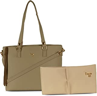 Baggit Faux Leather Women's Beige Cb Smaug Handbag with Wallet