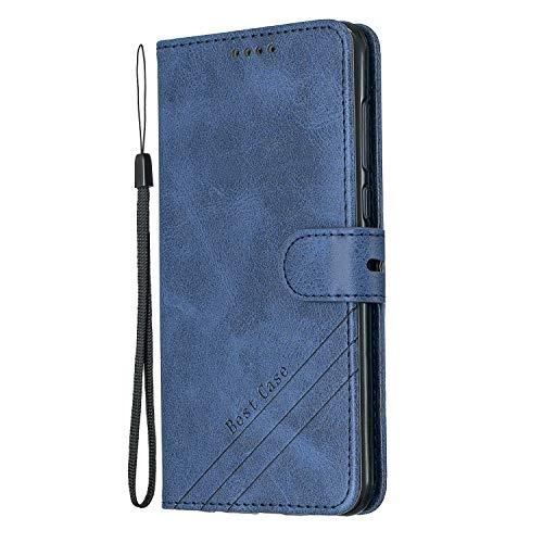 Lomogo Huawei [Mate 10 Lite] Hülle Leder, Schutzhülle Brieftasche mit Kartenfach Klappbar Magnetisch Stoßfest Handyhülle Case für Huawei Mate10 Lite - LOHEX120285 Blau