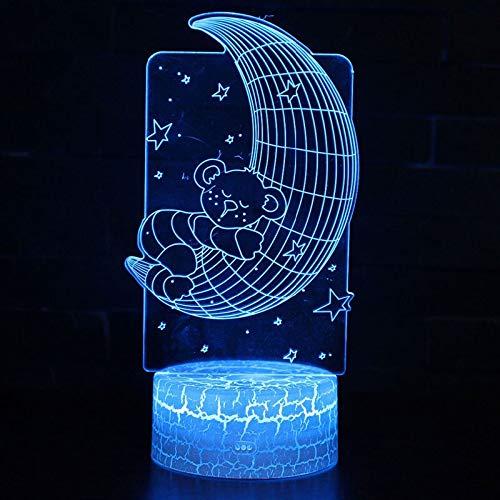 Mond-Bärn-Thema beleuchtet Nachtlicht-Farbnoten-Noten-Licht