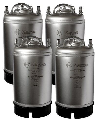 Kegco SET4-3G-SH Ball Lock Kegs, 4, Stainless Steel