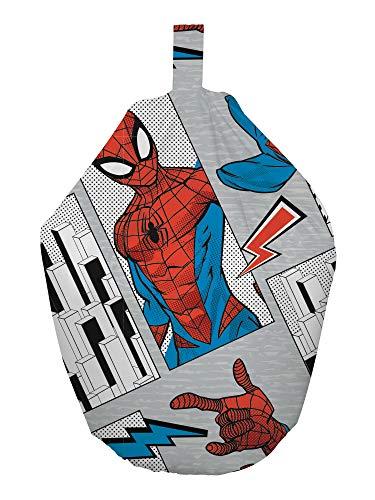 Spiderman Sitzsack, offizielles Lizenzprodukt, graues Flugdesign, perfekt für jedes Kinderzimmer oder Spielzimmer