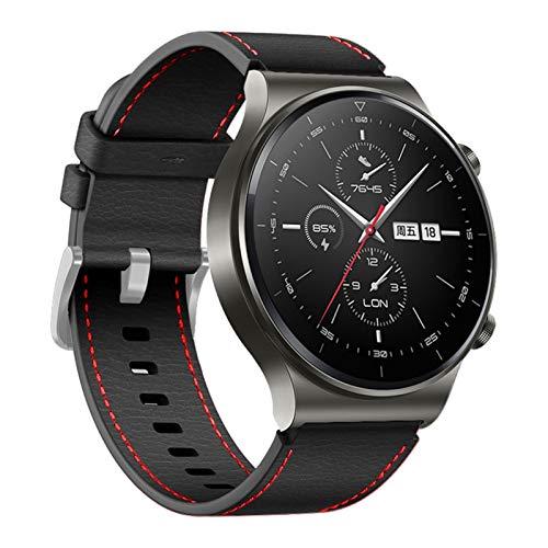 ZAALFC Correa de cuero de 22 mm para Huawei Watch GT 2 Pro Band para Huawei Gt2 Pro Band pulsera accesorios reemplazables (color negro, tamaño: 22 mm otras correas)