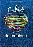 Cahier De Musique: Avec Portées|Grand Format A4| Pages Avec Lignes|120 Pages| |Page De Présentation|Couverture Originale Bleue Avec Coeurs.